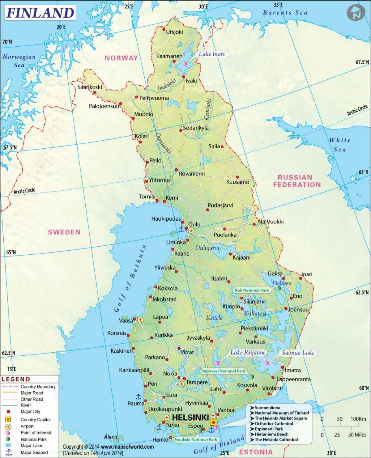 Cartina Geografica Nord Europa.Finlandia Geografia Cartina Mappa Geografica Della Finlandia Geografia Europa Del Nord Europa